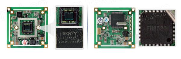 采用日本原装sony生产的138 coms图像传感器,和富翰fh8520 dsp.